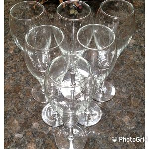 Unique Shaped Pier One Champagne Glasses